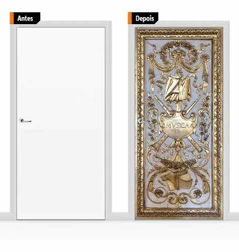 Adesivo Decorativo Porta Textura Medieval Pex07