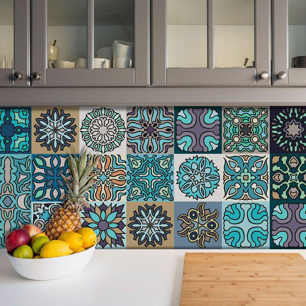 Adesivo Azulejo Português Ladrilho Para Cozinha Mod11