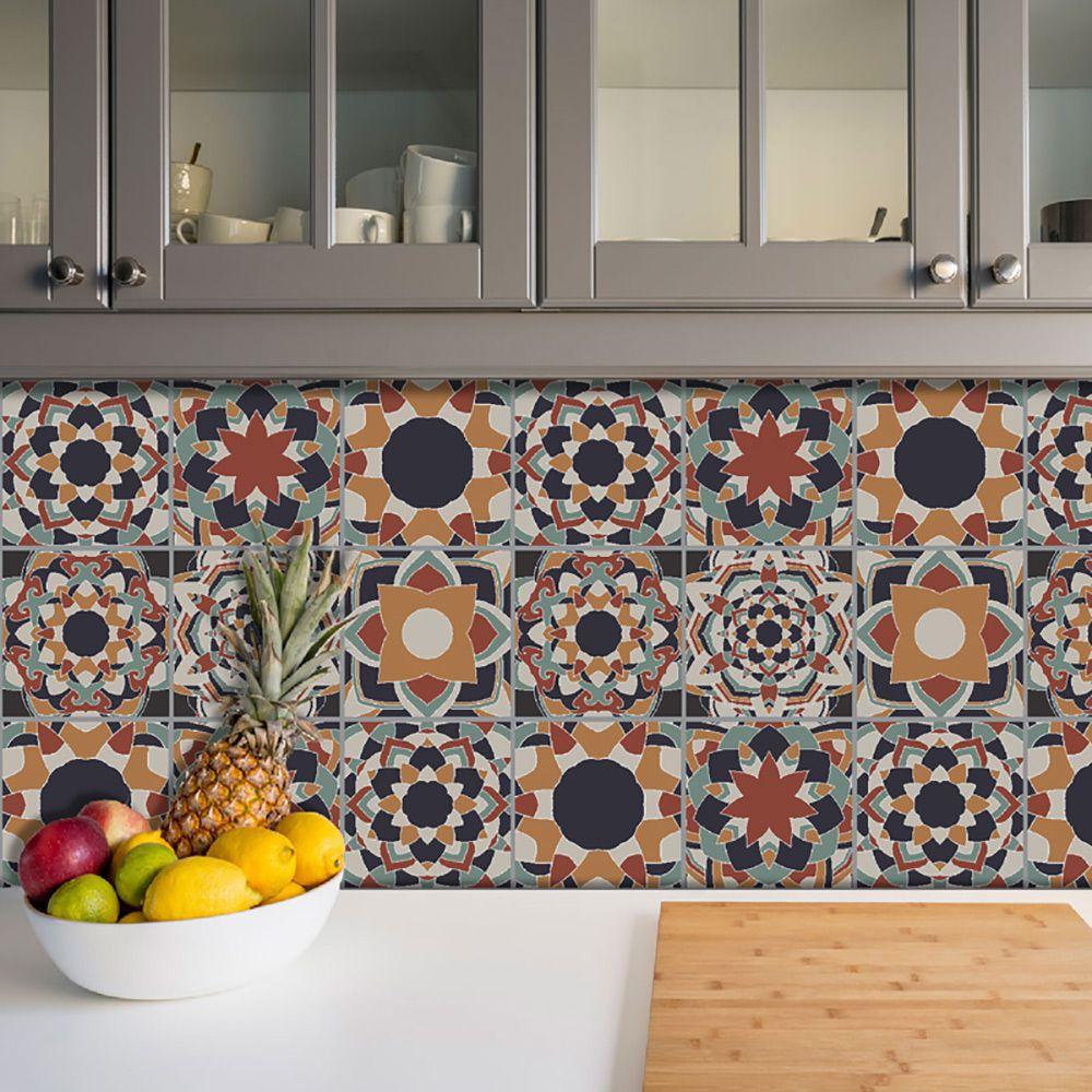 Adesivo Azulejo Português Ladrilho Para Cozinha Mod13