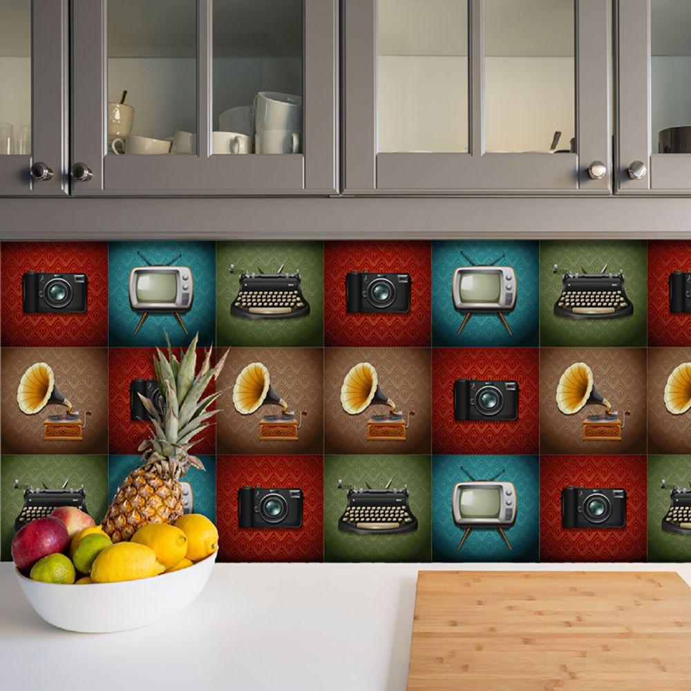 Adesivo Azulejo Português Ladrilho Para Cozinha Mod16