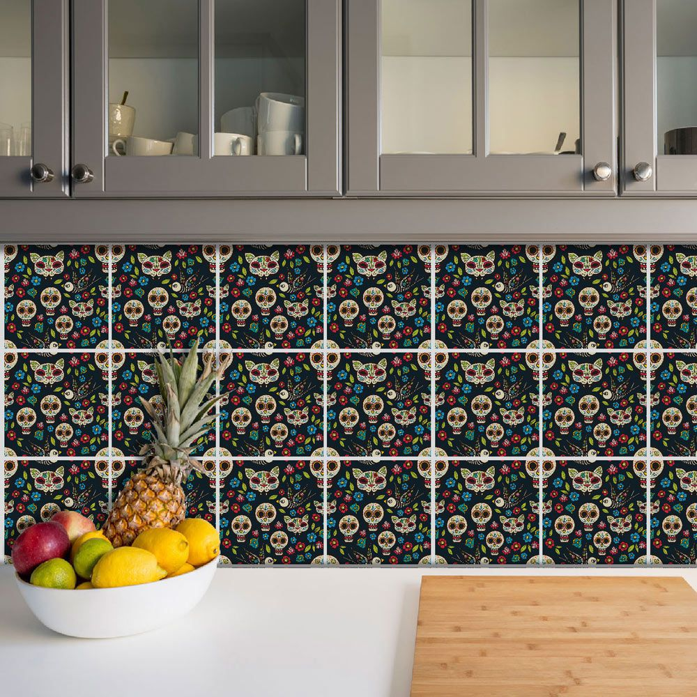 Adesivo Azulejo Português Ladrilho Para Cozinha Mod19