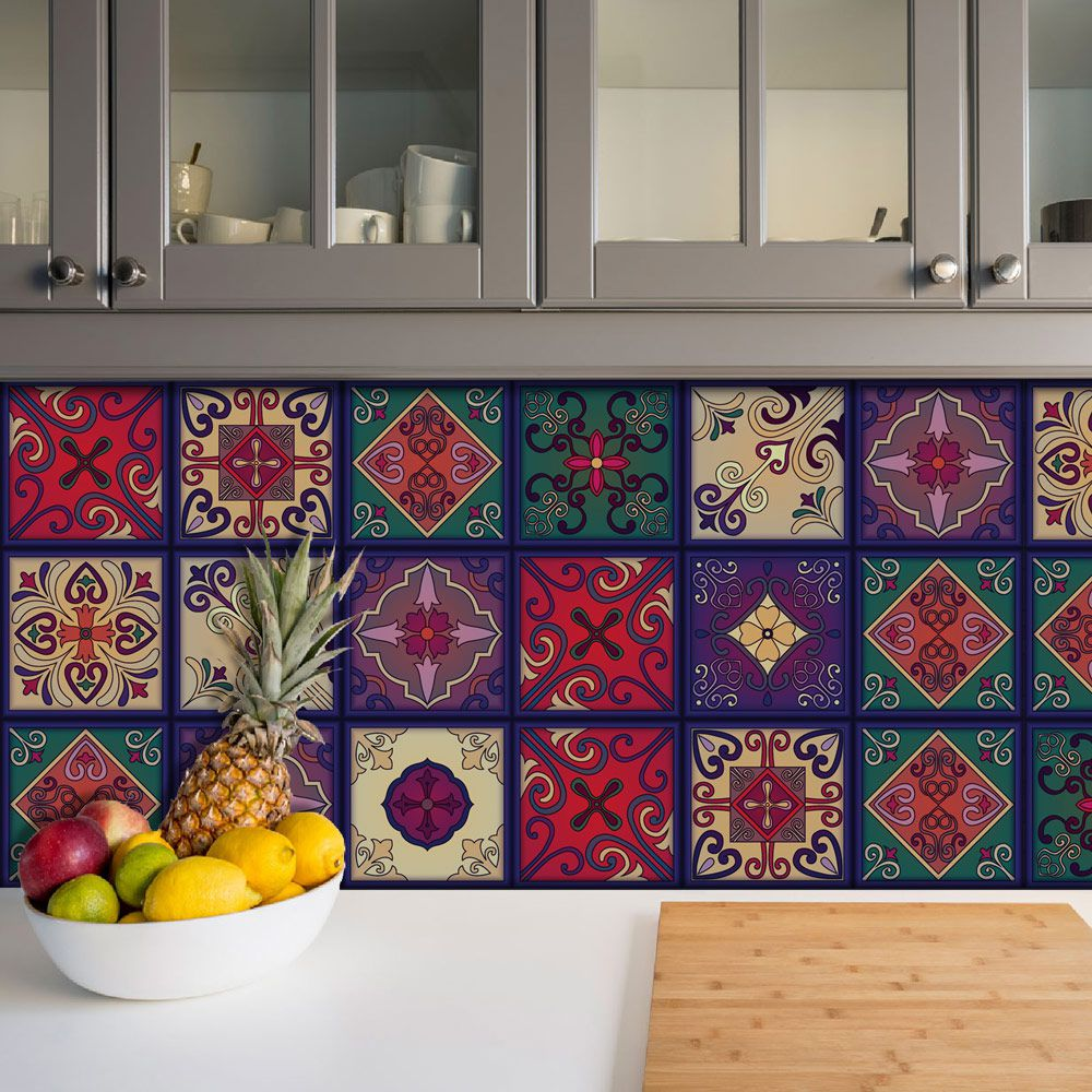 Adesivo Azulejo Português Ladrilho Para Cozinha Mod21