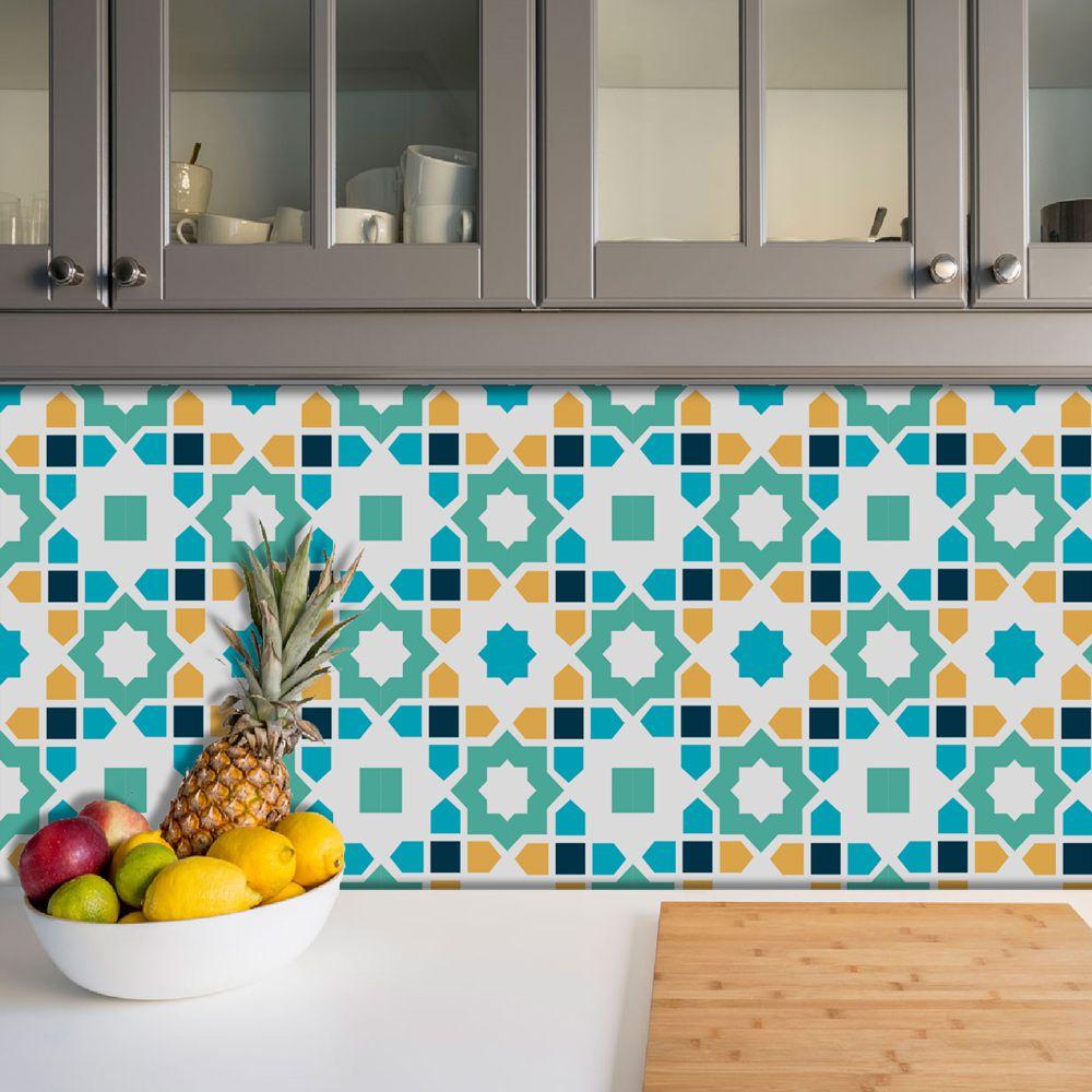 Adesivo Azulejo Português Ladrilho Para Cozinha Mod27