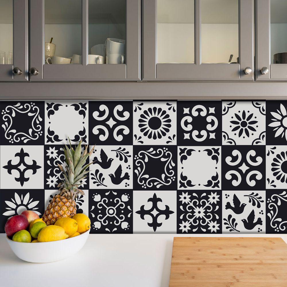 Adesivo Azulejo Português Ladrilho Para Cozinha Mod28