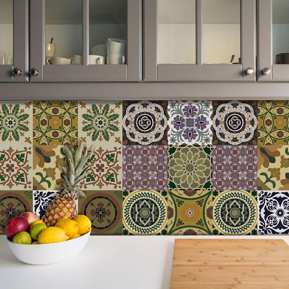 Adesivo Azulejo Português Ladrilho Para Cozinha Mod2