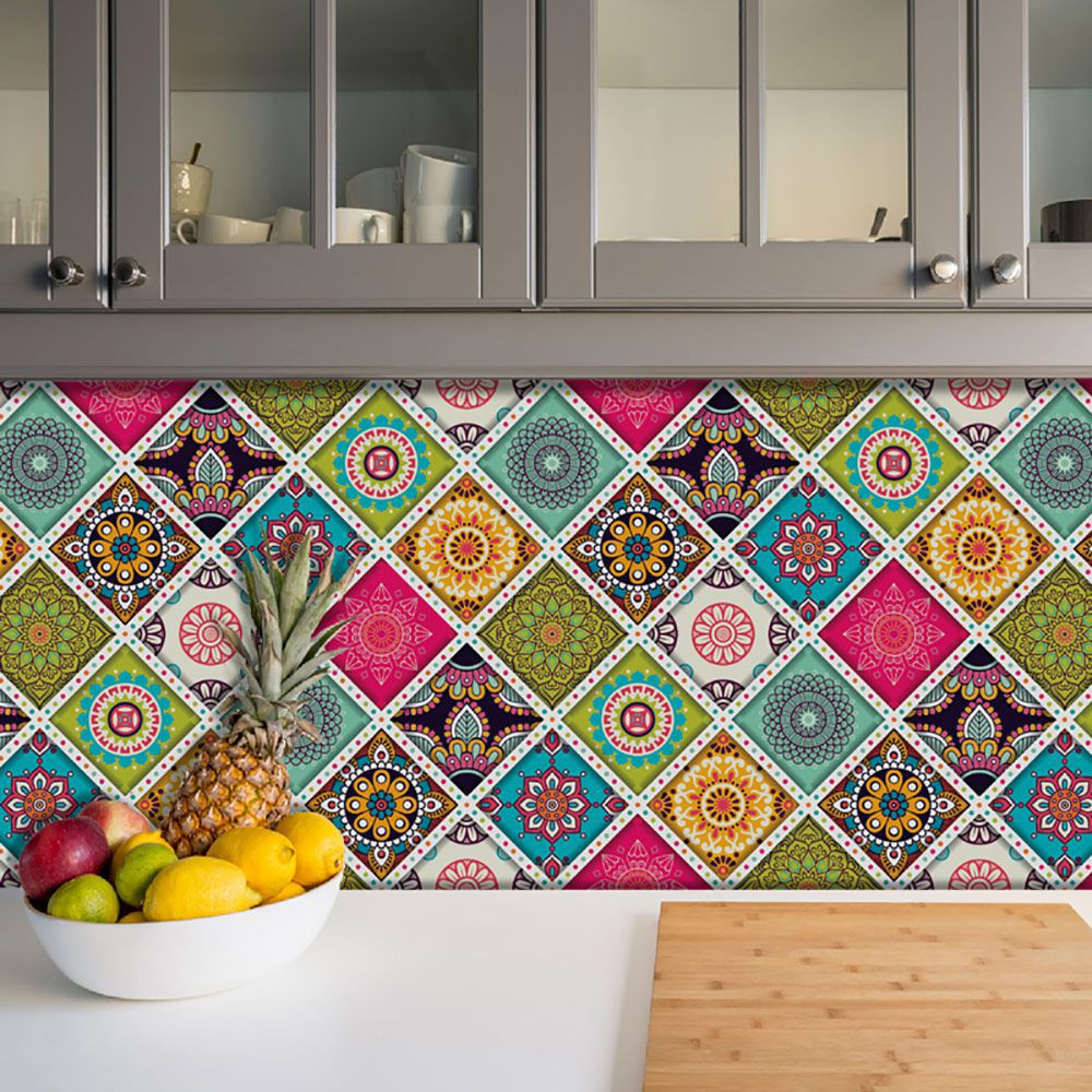 Adesivo Azulejo Português Ladrilho Para Cozinha Mod4