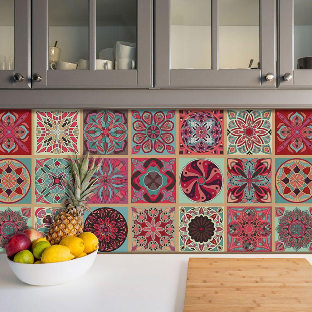 Adesivo Azulejo Português Ladrilho Para Cozinha Mod8