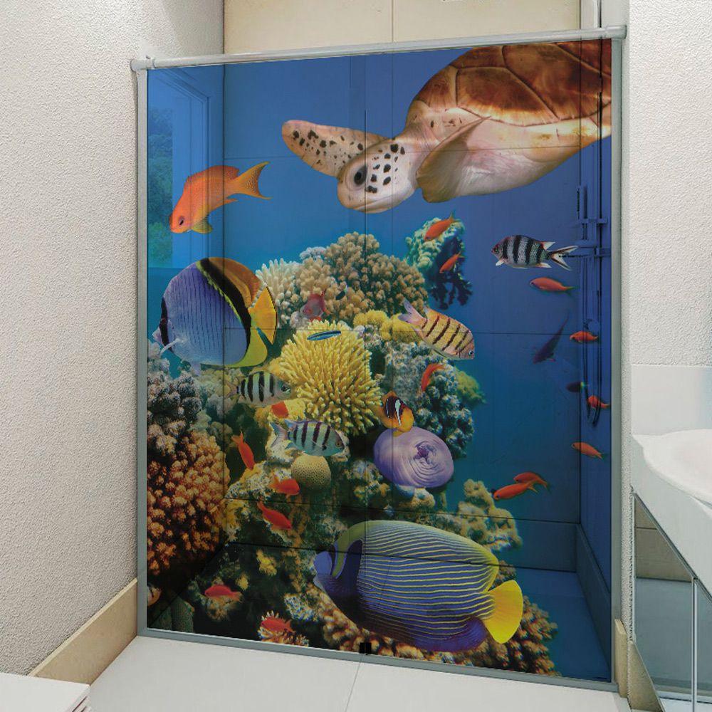 Adesivo Box Banheiro 3d Sob Medida - Mod 107