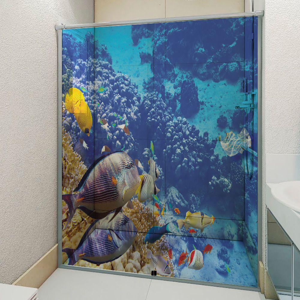 Adesivo Box Banheiro 3d Sob Medida - Mod 108