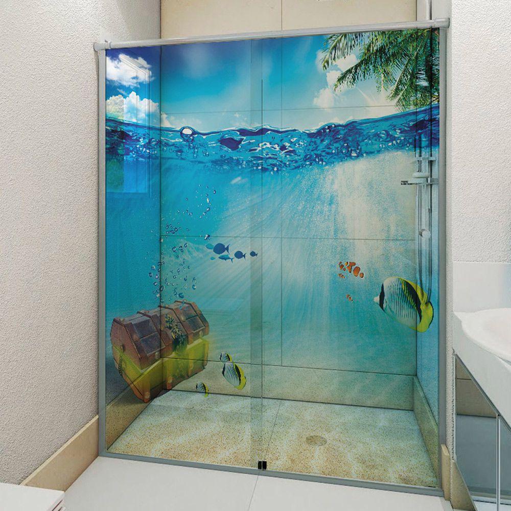 Adesivo Box Banheiro 3d Sob Medida - Mod 10