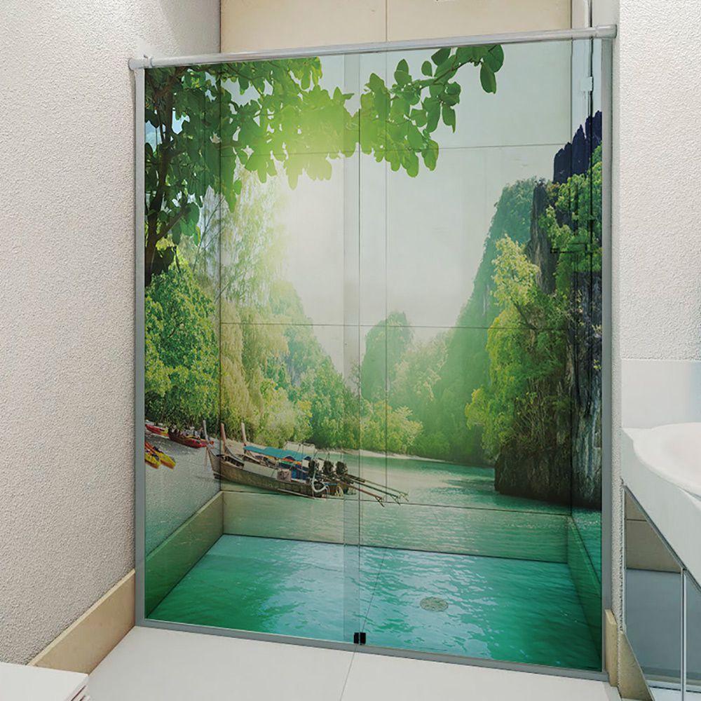 Adesivo Box Banheiro 3d Sob Medida - Mod 111