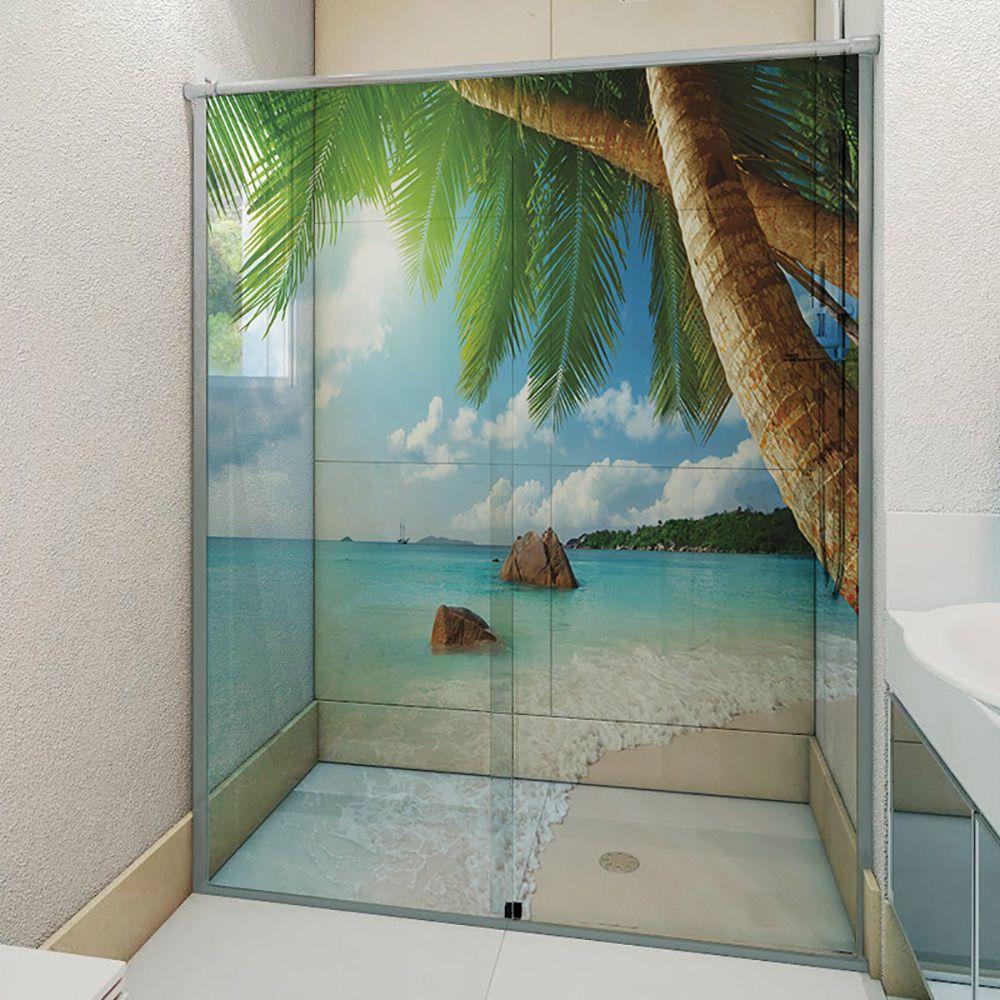 Adesivo Box Banheiro 3d Sob Medida - Mod 113