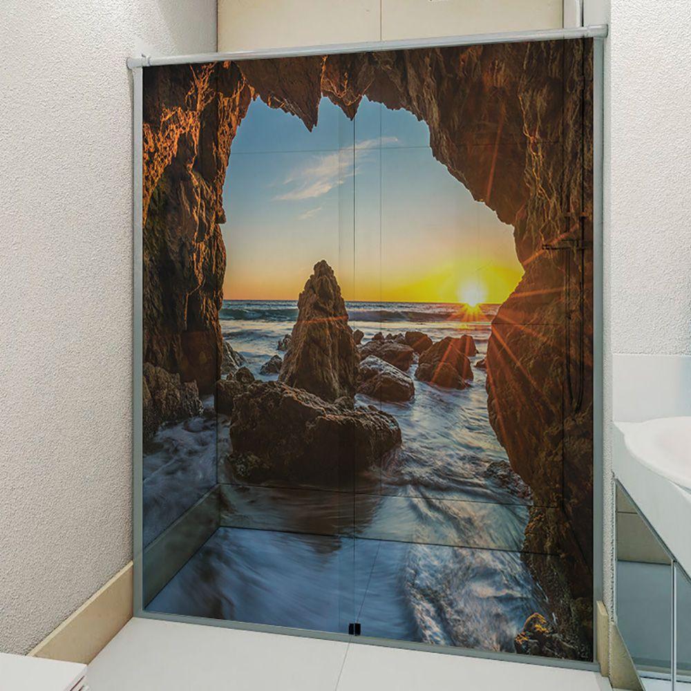 Adesivo Box Banheiro 3d Sob Medida - Mod 114