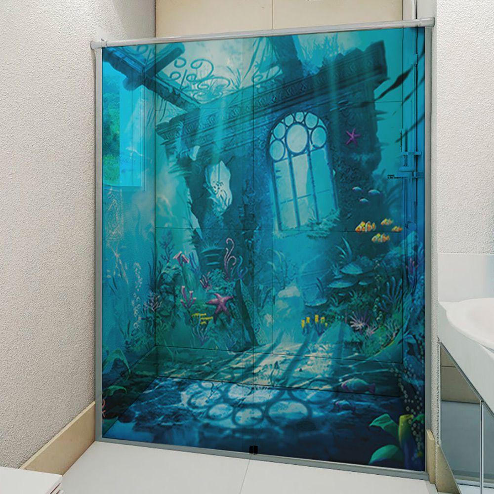 Adesivo Box Banheiro 3d Sob Medida - Mod 11