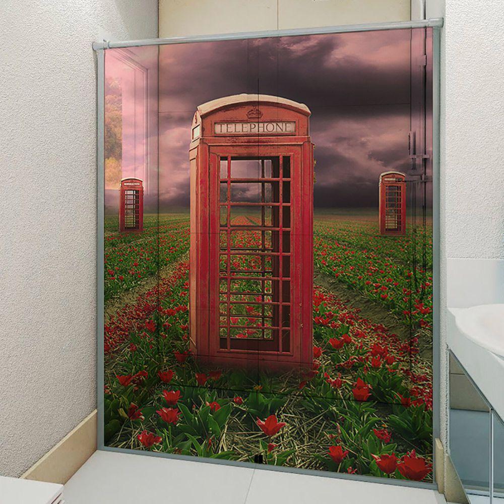 Adesivo Box Banheiro 3d Sob Medida - Mod 121