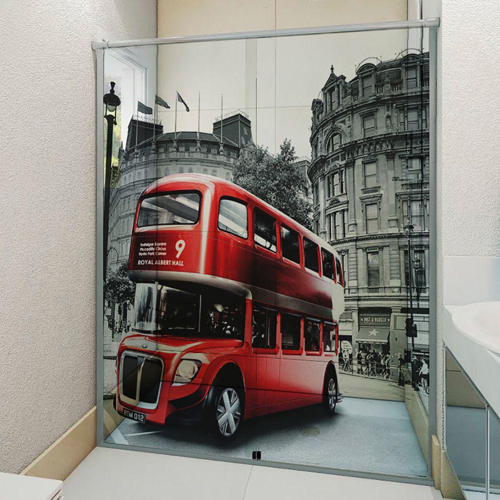 Adesivo Box Banheiro 3d Sob Medida - Mod 122