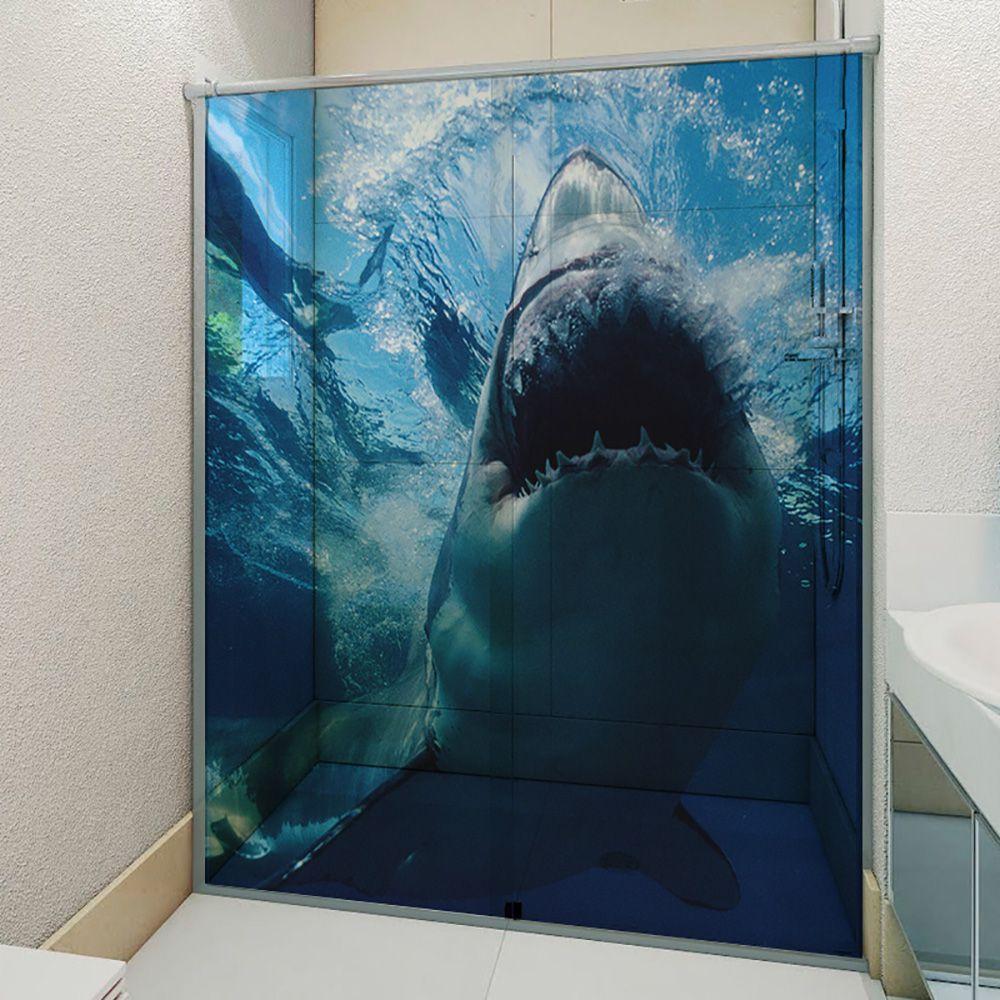Adesivo Box Banheiro 3d Sob Medida - Mod 131