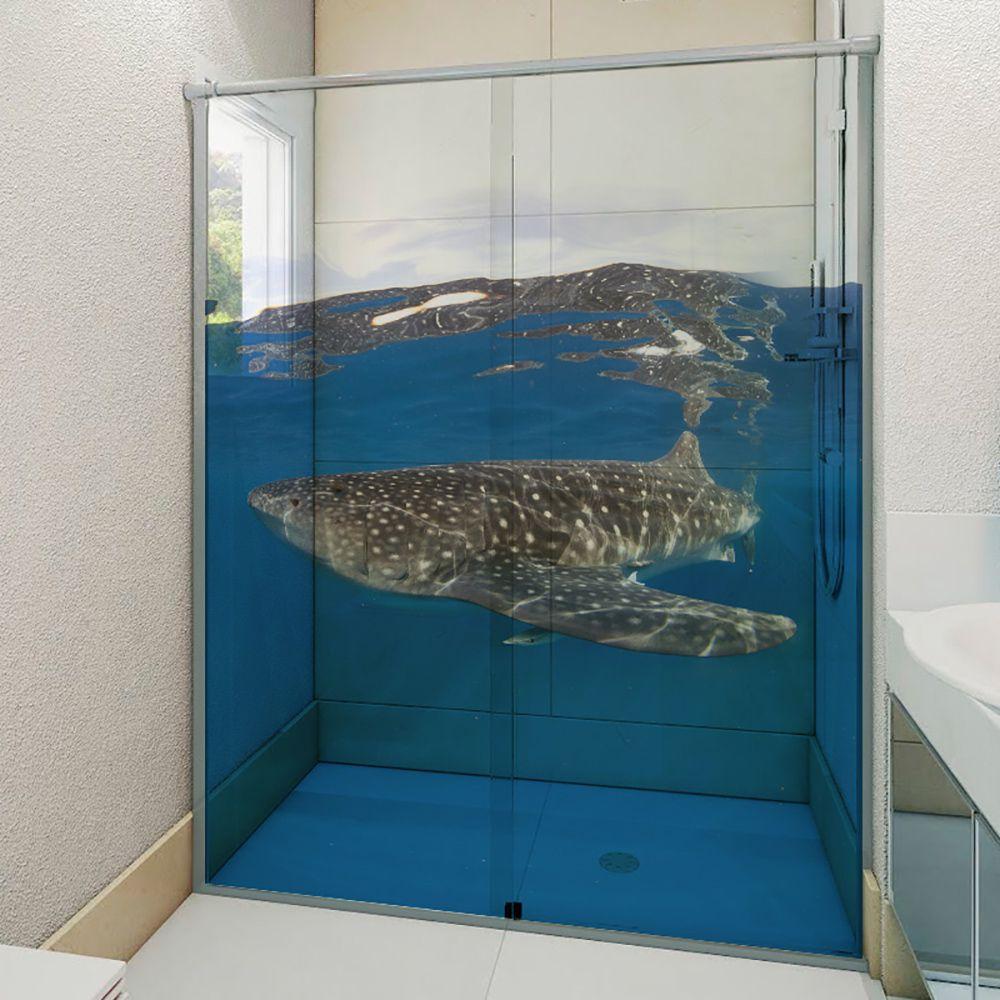 Adesivo Box Banheiro 3d Sob Medida - Mod 132