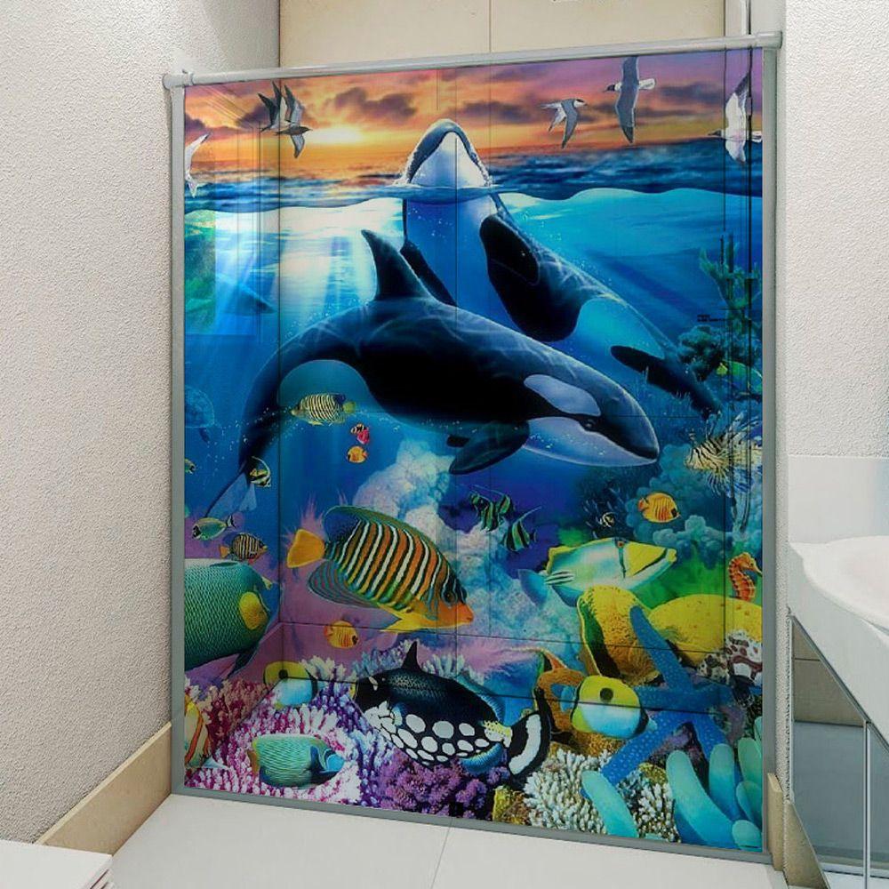 Adesivo Box Banheiro 3d Sob Medida - Mod 138