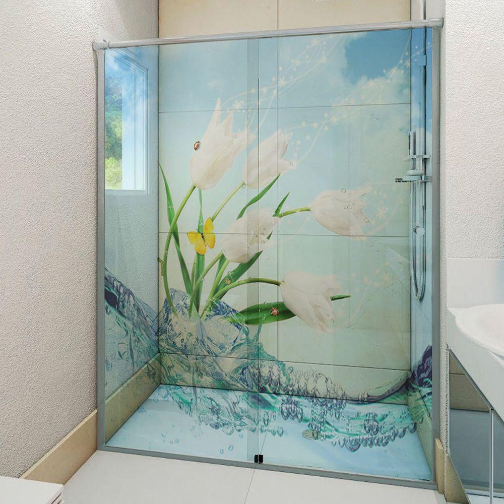 Adesivo Box Banheiro 3d Sob Medida - Mod 152