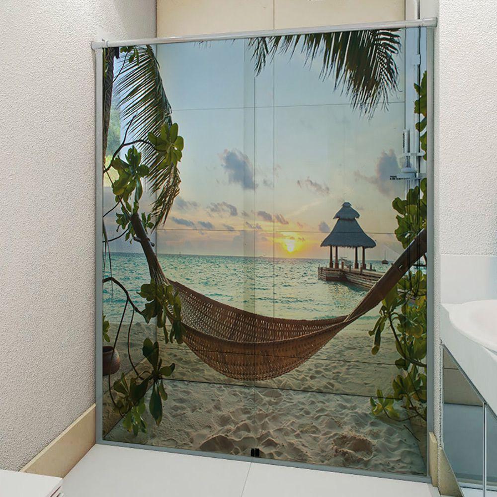 Adesivo Box Banheiro 3d Sob Medida - Mod 155