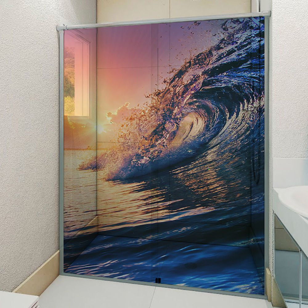 Adesivo Box Banheiro 3d Sob Medida - Mod 156