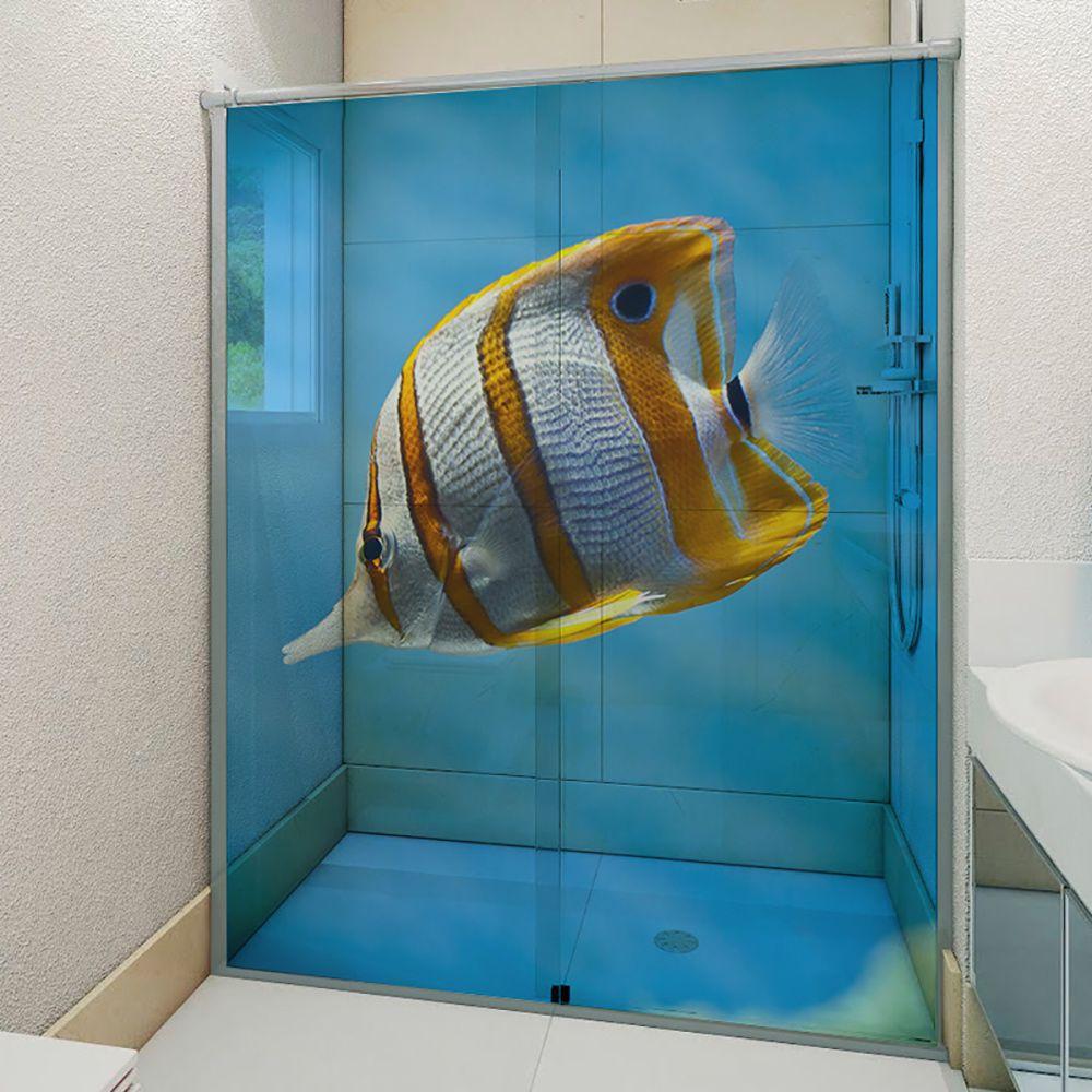 Adesivo Box Banheiro 3d Sob Medida - Mod 161