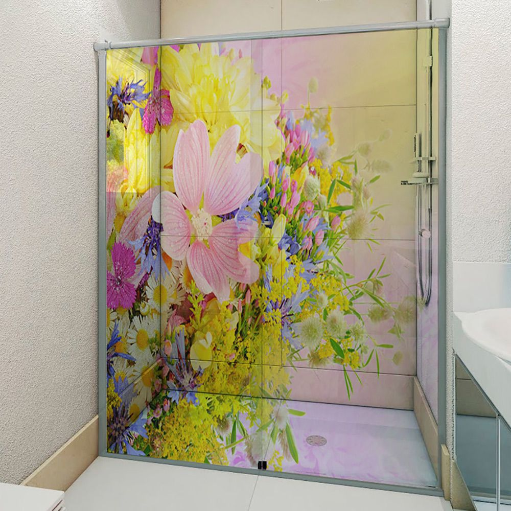 Adesivo Box Banheiro 3d Sob Medida - Mod 172