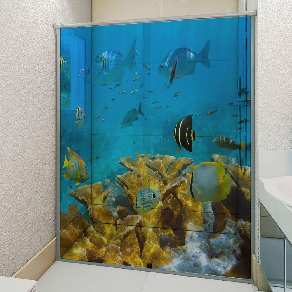 Adesivo Box Banheiro 3d Sob Medida - Mod 177