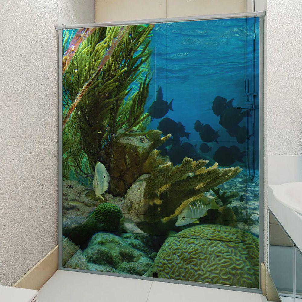 Adesivo Box Banheiro 3d Sob Medida - Mod 179