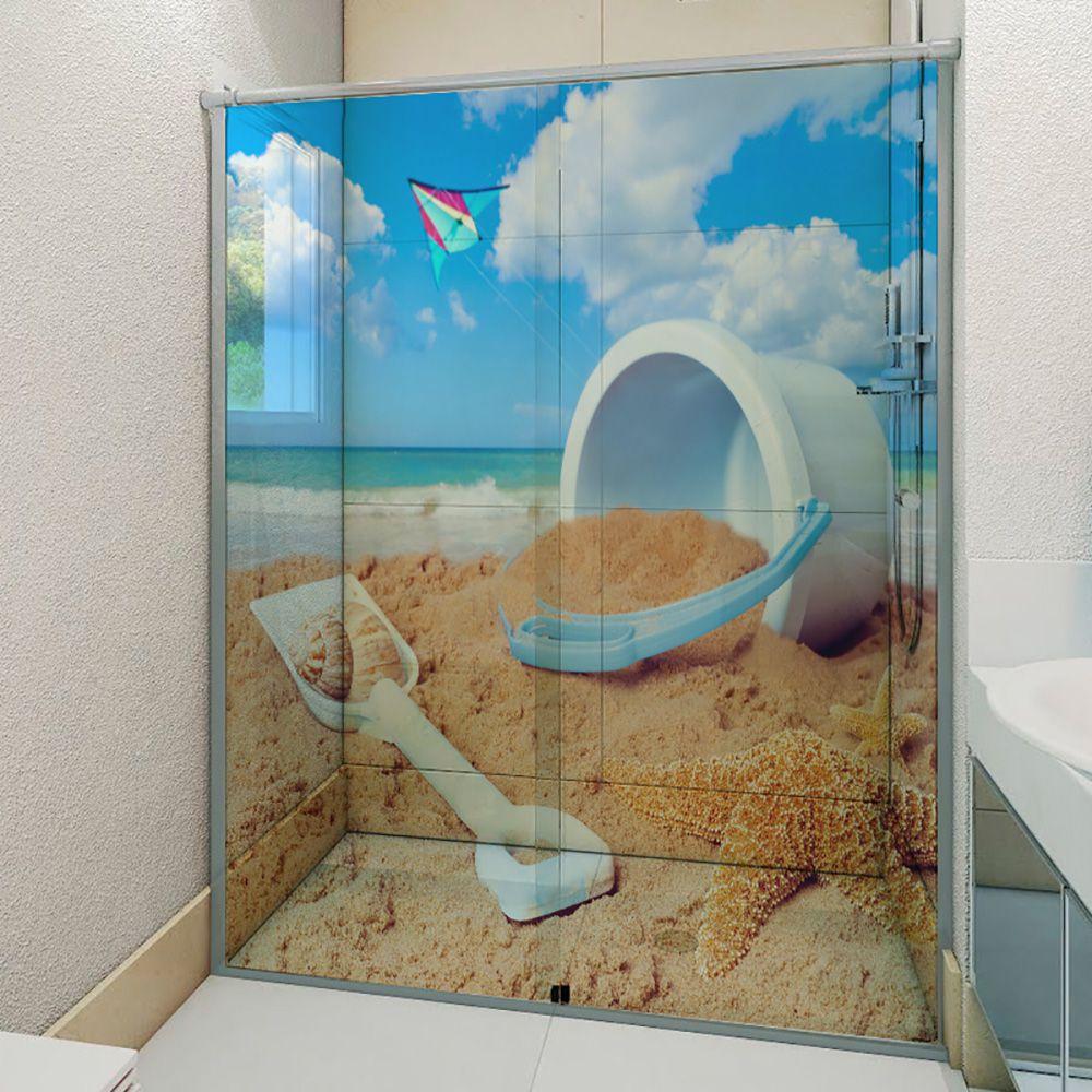 Adesivo Box Banheiro 3d Sob Medida - Mod 180