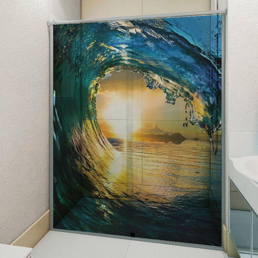 Adesivo Box Banheiro 3d Sob Medida - Mod 187