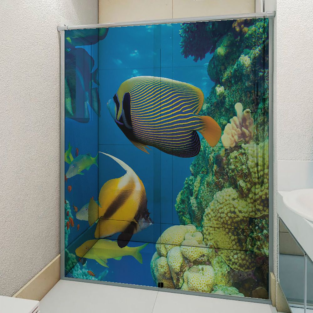 Adesivo Box Banheiro 3d Sob Medida - Mod 199