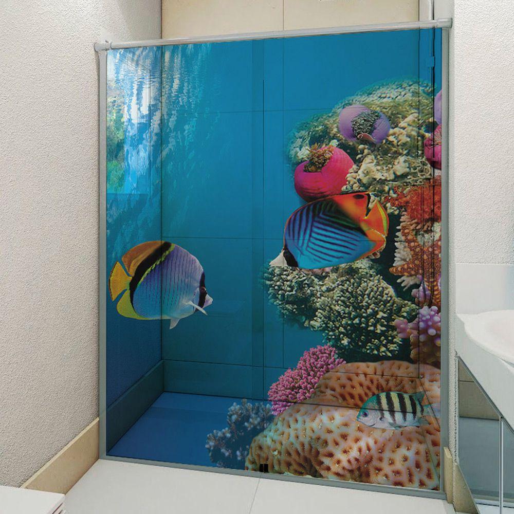 Adesivo Box Banheiro 3d Sob Medida - Mod 1