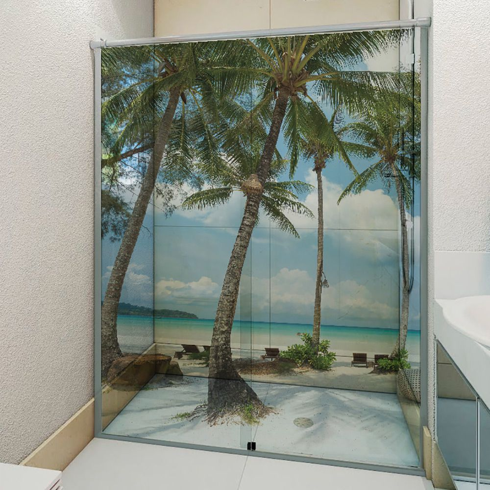 Adesivo Box Banheiro 3d Sob Medida - Mod 204