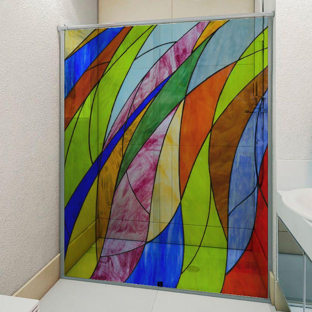 Adesivo Box Banheiro 3d Sob Medida - Mod 211
