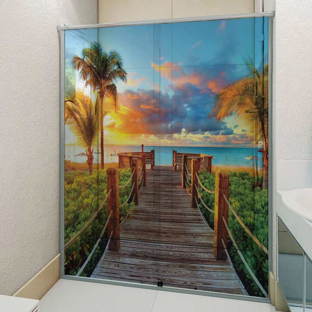 Adesivo Box Banheiro 3d Sob Medida - Mod 36