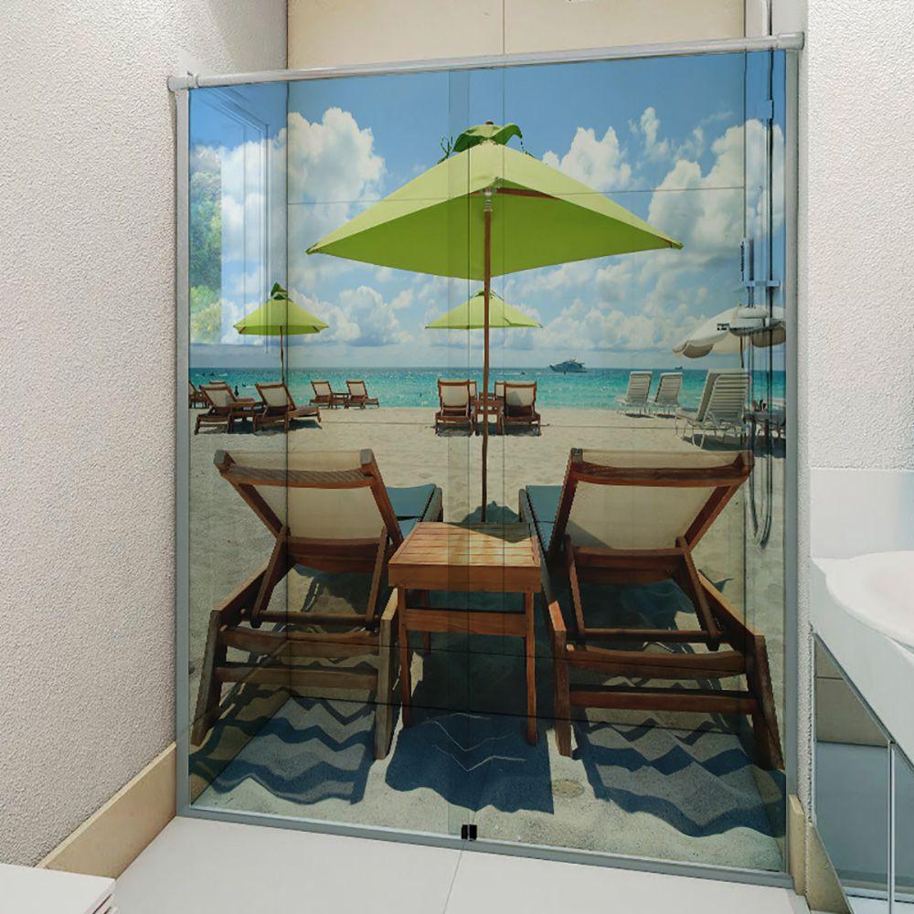 Adesivo Box Banheiro 3d Sob Medida - Mod 37