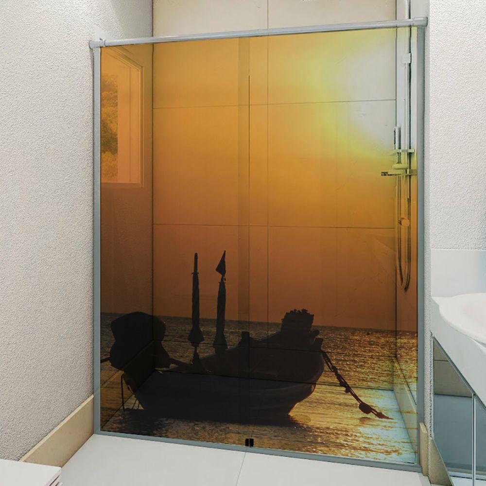 Adesivo Box Banheiro 3d Sob Medida - Mod 48