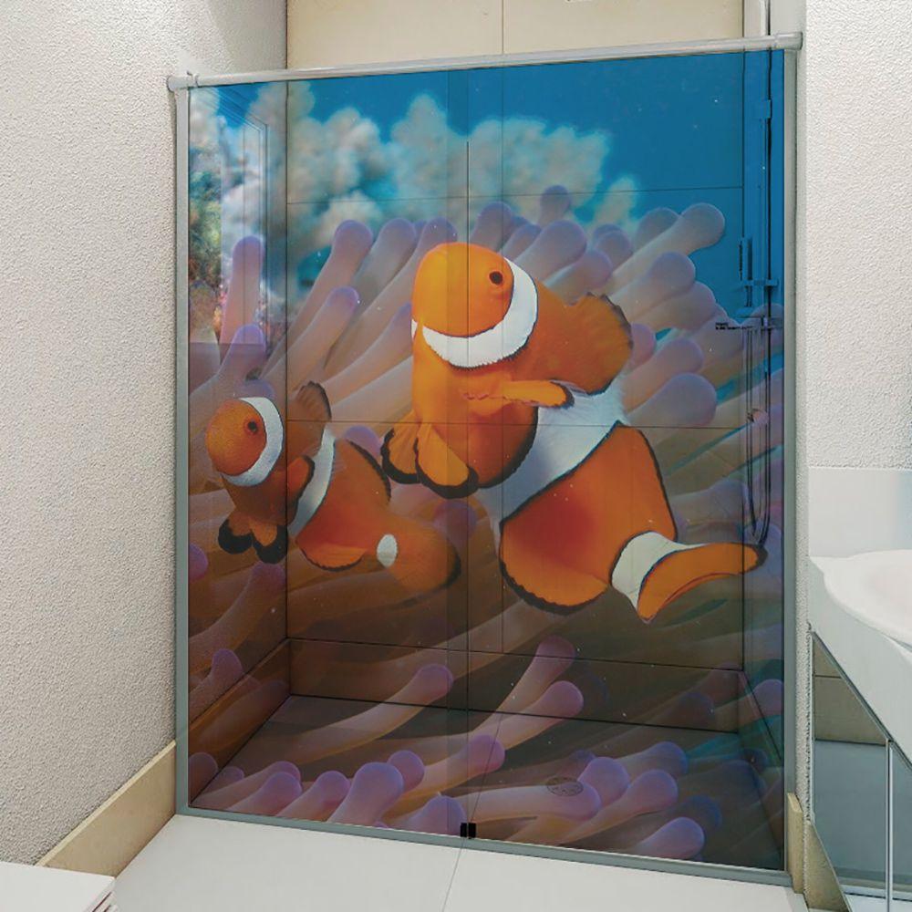 Adesivo Box Banheiro 3d Sob Medida - Mod 52