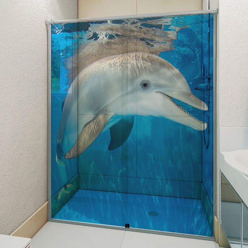 Adesivo Box Banheiro 3d Sob Medida - Mod 60