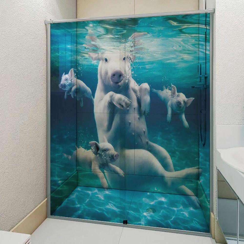Adesivo Box Banheiro 3d Sob Medida - Mod 69