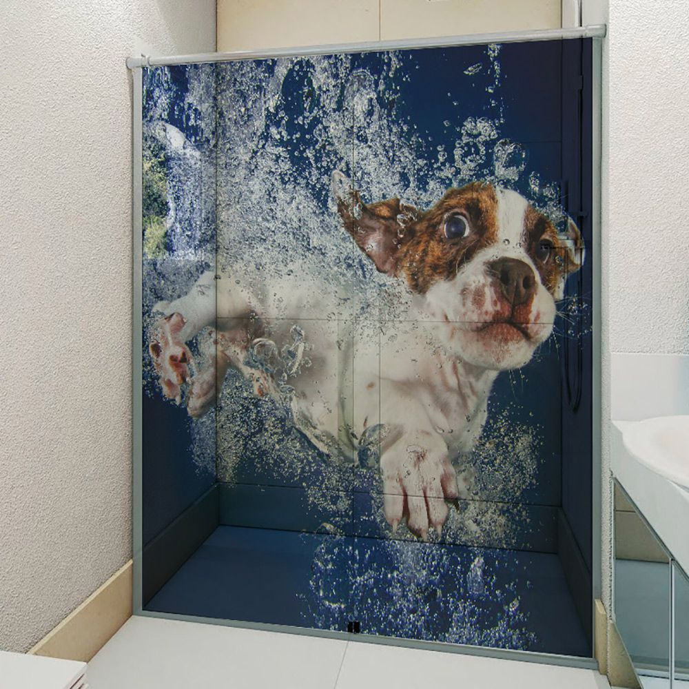 Adesivo Box Banheiro 3d Sob Medida - Mod 7