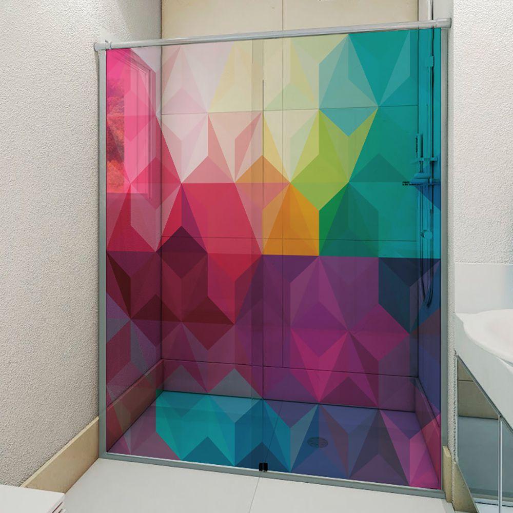 Adesivo Box Banheiro 3d Sob Medida - Mod 86