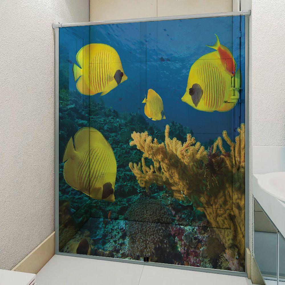 Adesivo Box Banheiro 3d Sob Medida - Mod 90