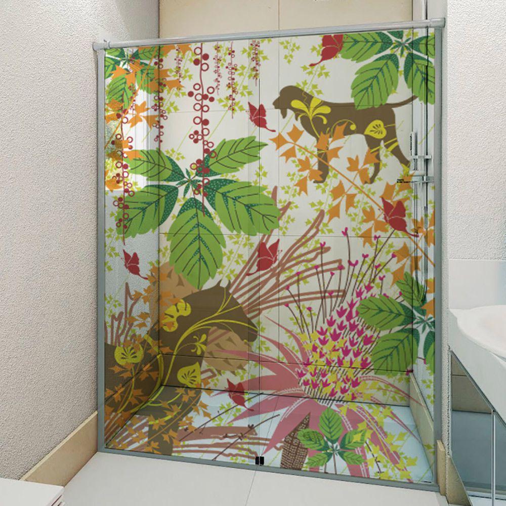 Adesivo Box Banheiro 3d Sob Medida - Mod 94