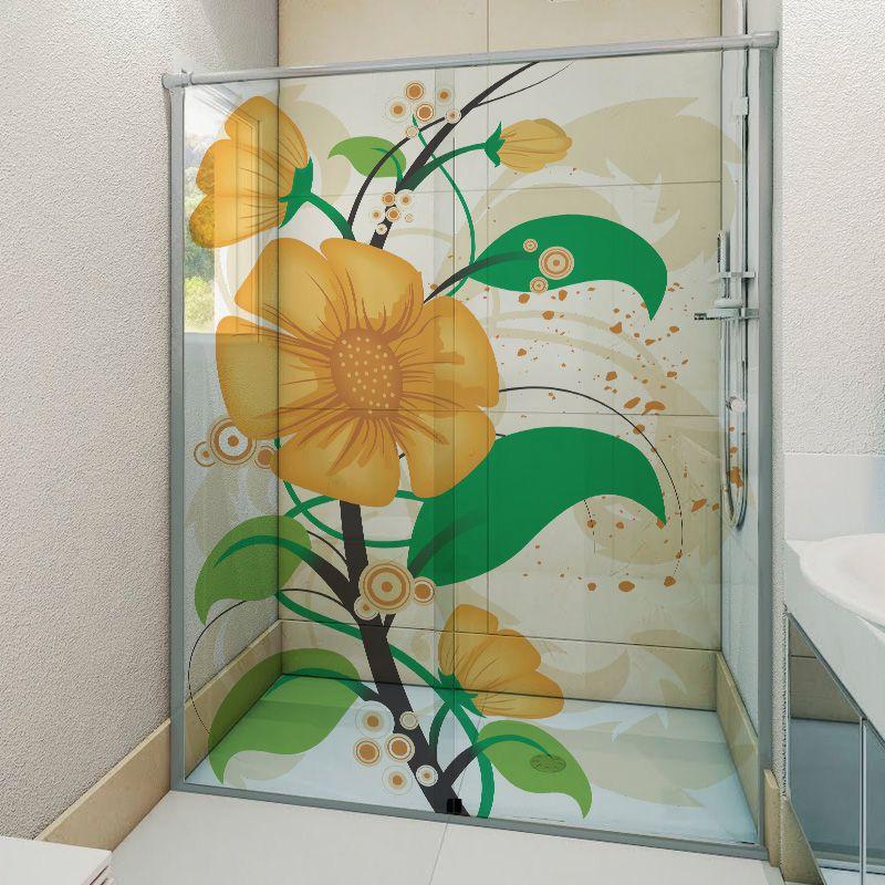 Adesivo Box Banheiro 3d Sob Medida - Mod 97