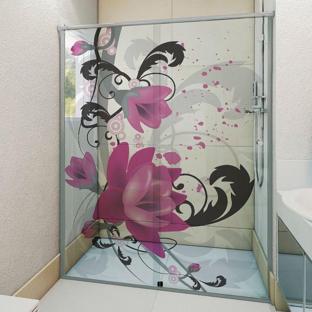 Adesivo Box Banheiro 3d Sob Medida - Mod 99