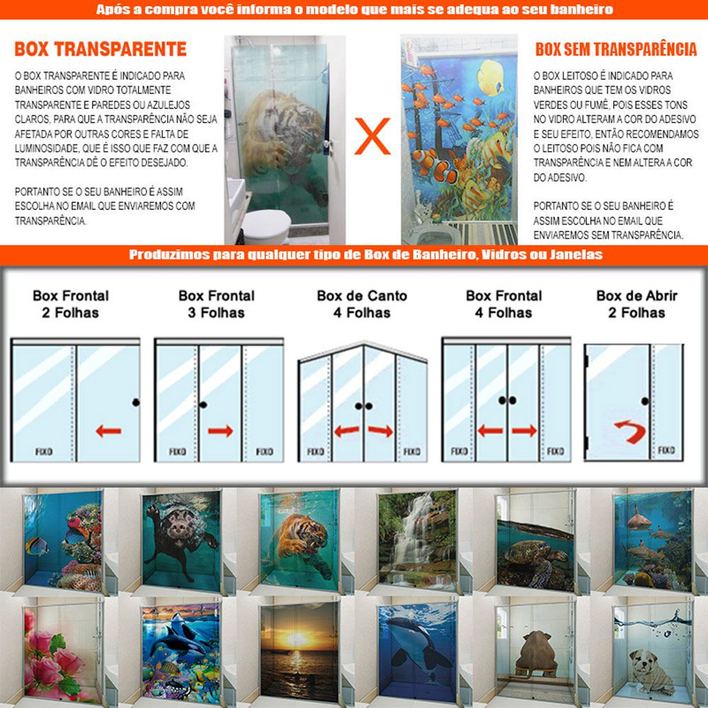 Adesivo Box Banheiro 3d Sob Medida Por Folha De Box - Mod 21