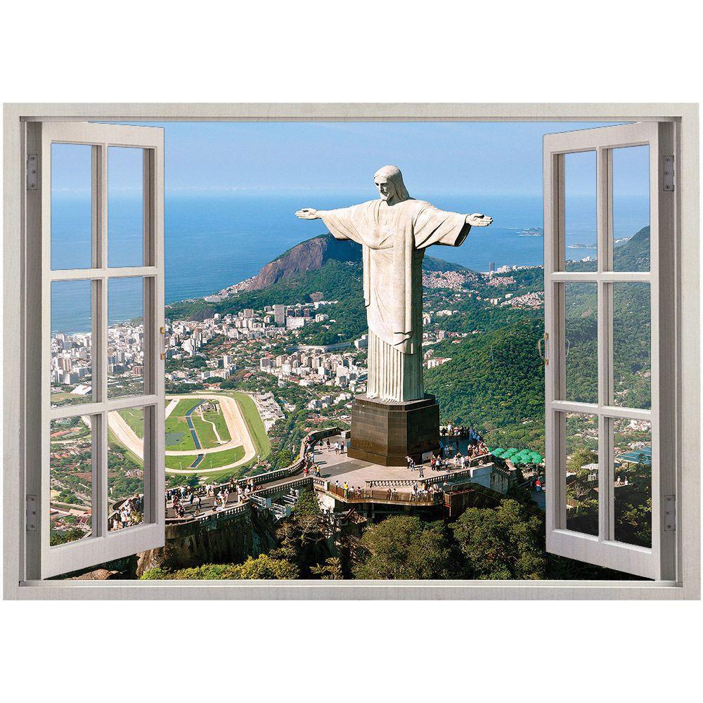 Adesivo de Parede  Janela Rio de Janeiro 1,4x1m